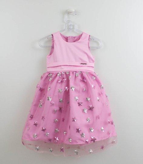 Vestido Rosa Tule Estrelas Momi Mini
