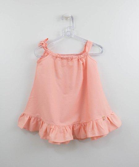 Vestido Salmão Bebê Um mais Um Verão