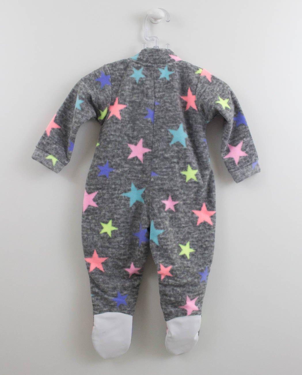 aa3f82ddcfcd1d Pijama Macacão Soft Vrasalon Estrelas Neon
