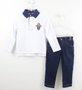 Conjunto 1+1 Baby Polo Manga Longa+ Calça Jeans Molecotton