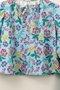 Conjunto Menina 1+1 Bata Azul Estampa Floral com Calça Fuseau