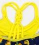 Biquini Siri Kids Rayane Estampa Limão