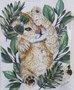 Blusa Pituchinhus Branca Canelada Tigrinho e Folhas