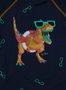 Blusa Siri Baby Lucca Estampa Dino Cool Manga Longa