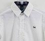 Camisa Branca Mini Poás Preto Manga Longa 1+1 Menino
