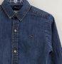 Camisa Jeans 1+1 Menino Detalhe Amassado