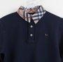 Camisa Polo Azul Marinho Gola Xadrez  1+1