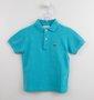 Camisa Polo Lacoste Infantil Azul Turquesa
