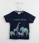 Camiseta Animais Selvagens Milon Mini Baby Marinho