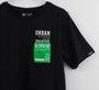 Camiseta Infantil Youccie Preta Etiqueta Refletiva