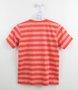 Camiseta Lacoste Infantil Menino Listras Laranja