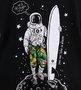 Camiseta Preta Infantil Menino Astronauta Um mais Um