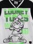 Camsiseta Taz Mania Looney Tunes Youccie Preto e Branco