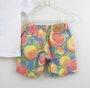 Conjunto 1+1 Baby Camiseta + Bermuda Estampada Laranjas