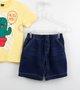 Conjunto 1+1 Baby Camiseta Hug Me + Bermuda Jeans Molecotton