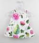 Conjunto 1+1 Baby Style Bata + Fuseau Flores e Folhas