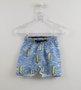 Conjunto 1+1 Bebê Regata Baleia Amarela e Bermuda Nylon
