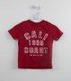 Conjunto 1+1 Camiseta Vermelha e Bermuda Listras