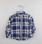 Conjunto Azul Camisa Xadrex e Calça Molecotton 1+1