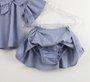 Conjunto Baby 1+1 Bata + Saia-Calcinha Azul