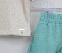 Conjunto Blusa Malha e Saia Verde Água Um mais Um