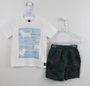 Connunto 1+1 Baby Camiseta Algodão Sustentavel + Bermuda