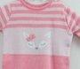 Macacão Menina Raposinha Tricot Bde Bebê Rosa