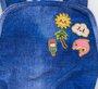Maio Siri Baby Ana Estampa Botton Jeans