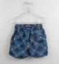 Short Banho Surf Azul  Coqueiros Baby 1+1