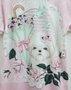 Vestido Estampado Cachorrinho Rosas Petit Cherie