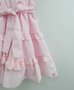 Vestido Infantil Tricoline Rosa Babados