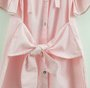 Vestido Listras Rosa Amarração Pituchinhus