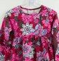 Vestido Momi Malha Vermelho Estampado Flores