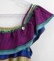 Vestido Nanai Tecido Listras Coloridas