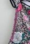 Vestido Neoprene Tigrado e Flores Pituchinhus