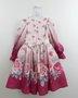 Vestido Petit Cherie Rosas Manga Longa