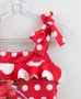 Vestido Vermelho Poás Malha Neoprene 1+1